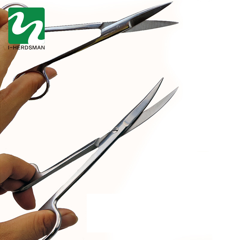 Pet Cattle Sheep Pig hv3n Surgical scissors Stainless Steel Surgery Anatomy Surgical Scissors Surgical Tool Kit