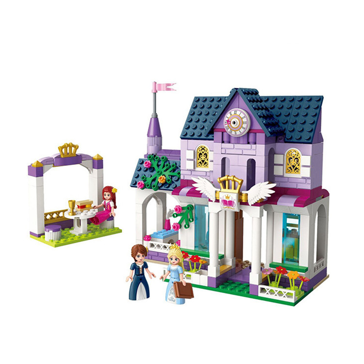 422pcs Royal Library Princess Friends Creator For Girls Palace Building Blocks Brick Figures Gift Doll Educational Toys Set Emma princess ponies 6 best friends for ever