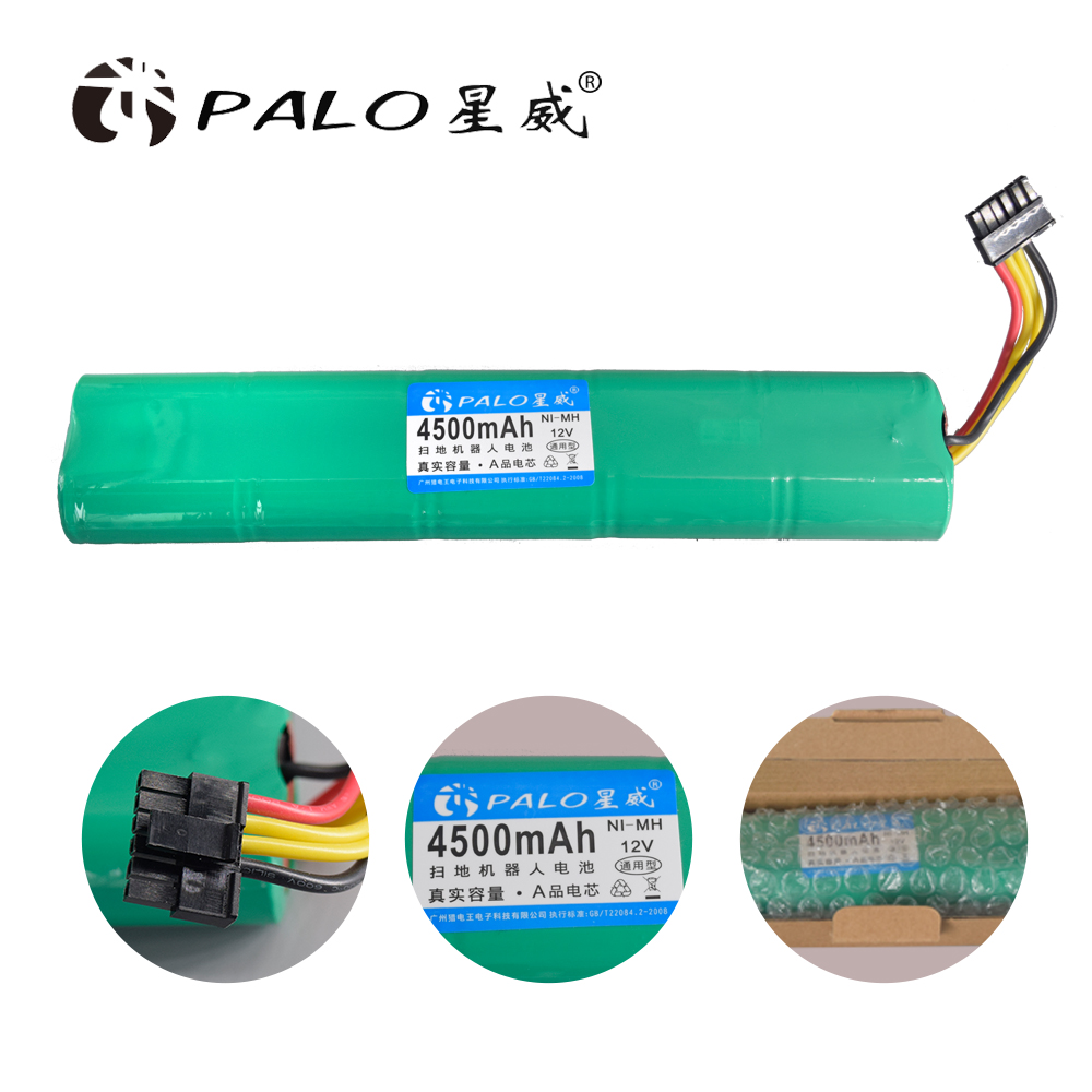 PALO new 12V Ni-MH 4500mAh vacuum cleaner robot battery in Rechargeable Batteries Pack For Neato Botvac 70e 75 D75 80 85 D85 etcPALO new 12V Ni-MH 4500mAh vacuum cleaner robot battery in Rechargeable Batteries Pack For Neato Botvac 70e 75 D75 80 85 D85 etc