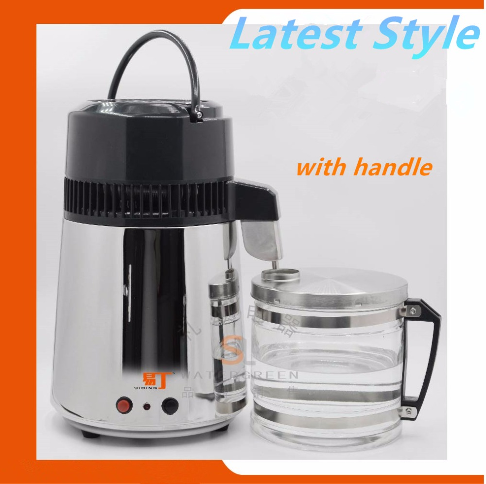 CE Certificate Stainless Steel Water distiller water purifier with glass jar and steel body water distilling machine цена