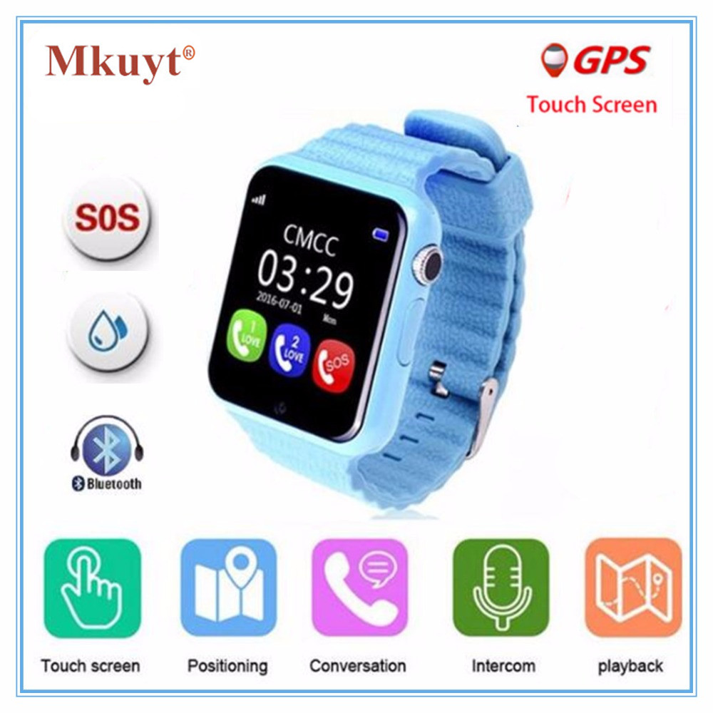 GPS smart watch kinder uhr V7k mit kamera/facebook SOS Anrufen Lage DevicerTracker für Kid Safe Anti-Verloren Monitor PK Q80 Q90