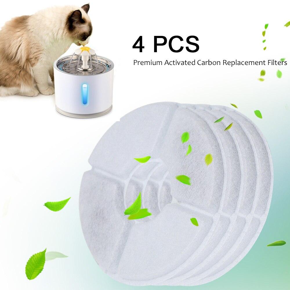 4 Teile/los Aktivkohle Filter Für 2.4l Automatische Katze Wasser Brunnen Wasser Ebene Fenster Led Elektrische Stumm Wasser Feeder