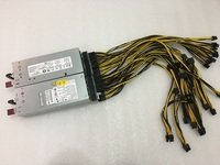 Server Power supply for DPS 800GB A 1000W with 6pin to 6+2pin breakout Board Adapter for Ethereum Mining ETH working well