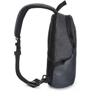 Image 3 - OZUKO Multifunction Crossbodyกระเป๋ากันน้ำMessengerกระเป๋าหน้าอกแพ็คผู้ชายแฟชั่นกระเป๋าชายUSBชาร์จ