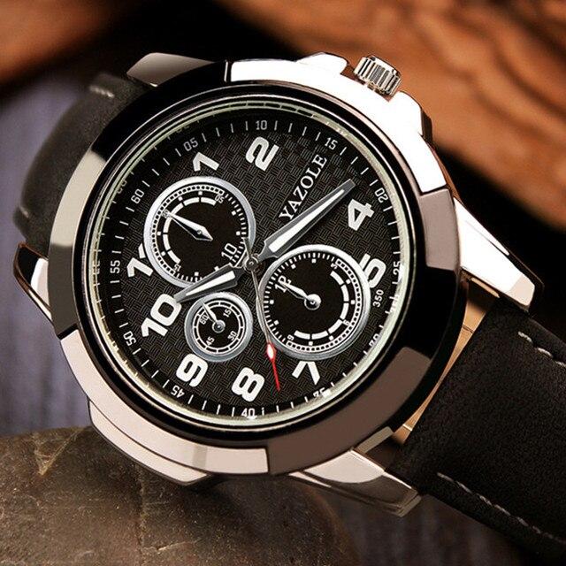 74f889f7b71 YAZOLE Marca Top Relógio Luminoso dos homens Esporte Relógio De Pulso Moda  Relógios do Relógio Dos