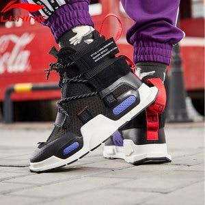 Image 2 - Li ning Zapatillas deportivas de baloncesto para hombre y mujer, zapatos deportivos de estilo informal, con forro de corte alto, para Fitness, Unisex, NYFW REBURN, AGBP038 XYL232