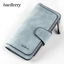 купить Baellerry Brand Zipper Long Card Holder Women Walet Phone Clutch Cuzdan Lady Wallet Female Purse For Money Bag Vallet Klachi по цене 617.74 рублей