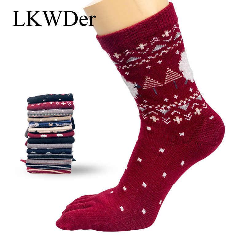 5 пар/набор Для женщин рождественские носки милые Животные с нескользящей подошвой и массажным эффектом; носок Calcetines Mujer каблук пять пальцы рук и ног короткие носки до щиколотки