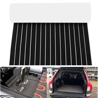 90x240cm Boat RV Touring Car EVA Foam Flooring Decking Sheet Marine Black White