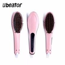 Prostownice LCD szybkie wygładzanie elektryczna szczotka do prostowania włosów wyświetlacz ceramiczny temperatura podgrzewania włosów hot comb pro