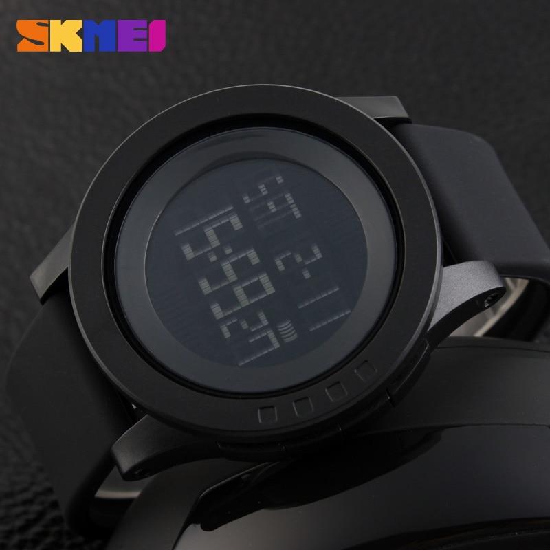 SKMEI Large Dial Outdoor Men Sports Watches LED Digital Wristwatches Waterproof Alarm Chrono Calendar Fashion Casual