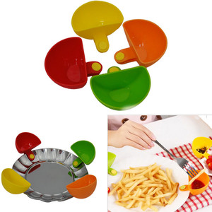 Rushed Vorkin 1Psc Dip Clips Kitchen Bowl kitTool Small Dishes supplies For Tomato Sauce Salt Vinegar Sugar Flavor Spices(China)