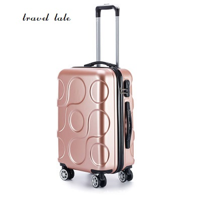 Travel tale 20/24/28 inches ABS Rolling Luggage new personality fashion customs lock Spinner brand Travel Suitcase