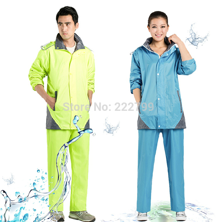 Electric motorcycle fashionable men and women split single adult thickened riding raincoat rain pants suit free shipping  reflective raincoat rain pants waterproof single raincoat men and women for riding working free shipping