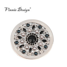 Vinnie Design Jewelry Fashion Pendant with Rosario 33mm Coin Featured with the B