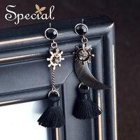 Special Brand Fashion 925 Sterling Silver Ear Pins Drop Earrings Sea Shell Long Earrings Tassel Jewelry