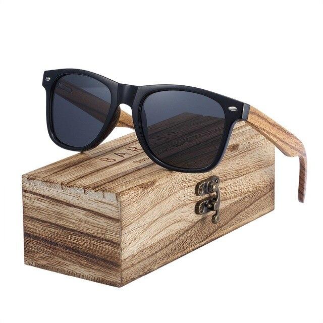 b5c751f8099 Sunglasses 2018 Polarized Zebra Wood Glasses Hand Made Vintage Wooden Frame  Male Driving Sun Glasses Shades