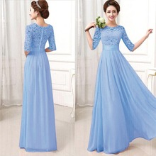 Women Long Sexy Lace Chiffon Evening Party Ball Prom Gown Formal Dresses  Sexy