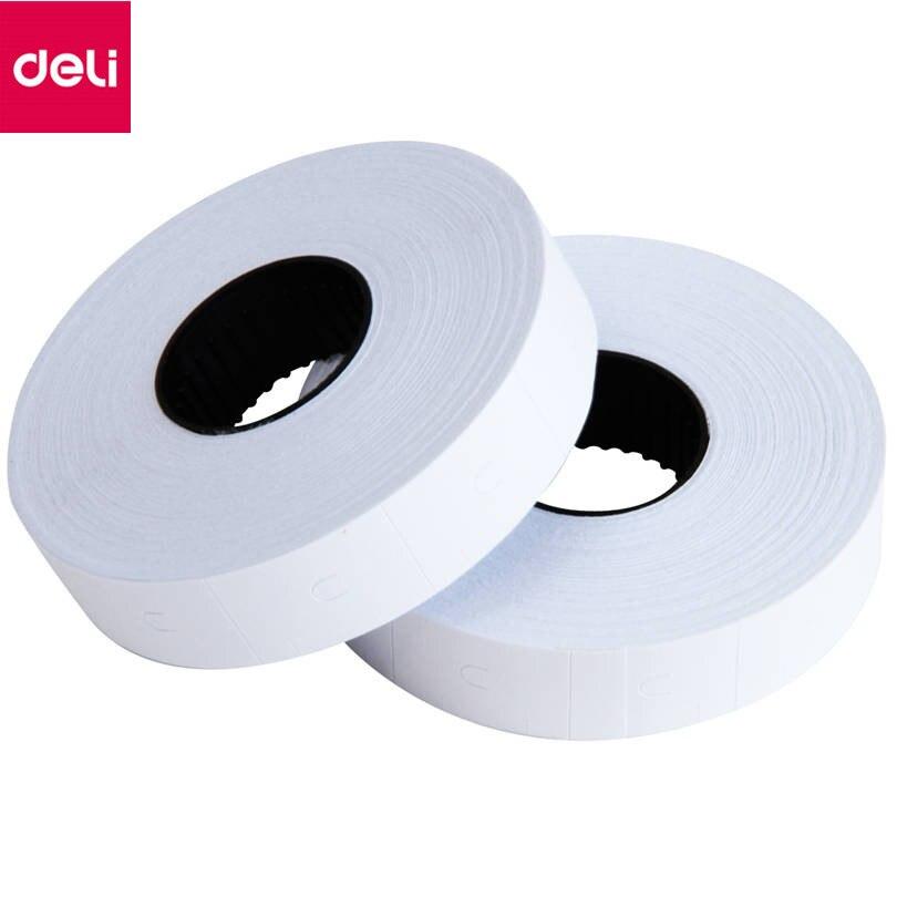 Deli 3209 10Pcs/Pack Price Paper Display Accessories White Adhesive 23*16mm Price Paper Make Practical Price Paper