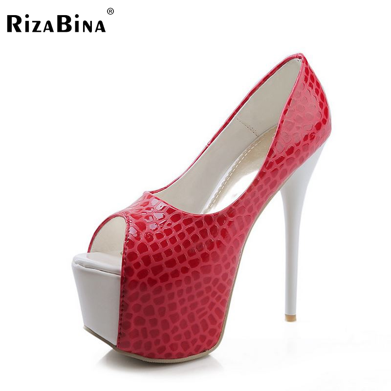 women stiletto high heel shoes platform sexy peep toe brand quality footwear fashion heeled pumps heels shoes size 33-40 P17653 made to order red sequin women shoes peep toe 2015 shoes women thick heel shoes for women sexy pumps shoes for high heeled