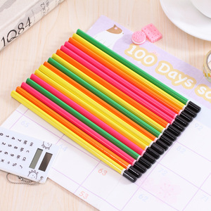 Image 5 - 100pcs wooden pencil candy color triangle pencils with eraser cute kids school office writing supplies drawing pencil graphite