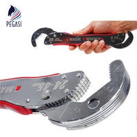 PEGASI 9~45mm Magic Adjustable Multi Purpose Functional Hook Type Spanner Tools Universal Wrench Hand Tools