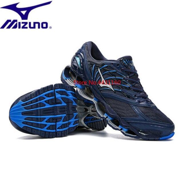 Mizuno Wave Profecia 8 Profissional Amortecimento Respirável Esporte sapatos Azul De Basquete Runnning Sapatos Homens Sneakers Frete Grátis