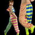 Nova marca Jazz harém calças hip hop calças de desgaste desempenho de impressão moletom