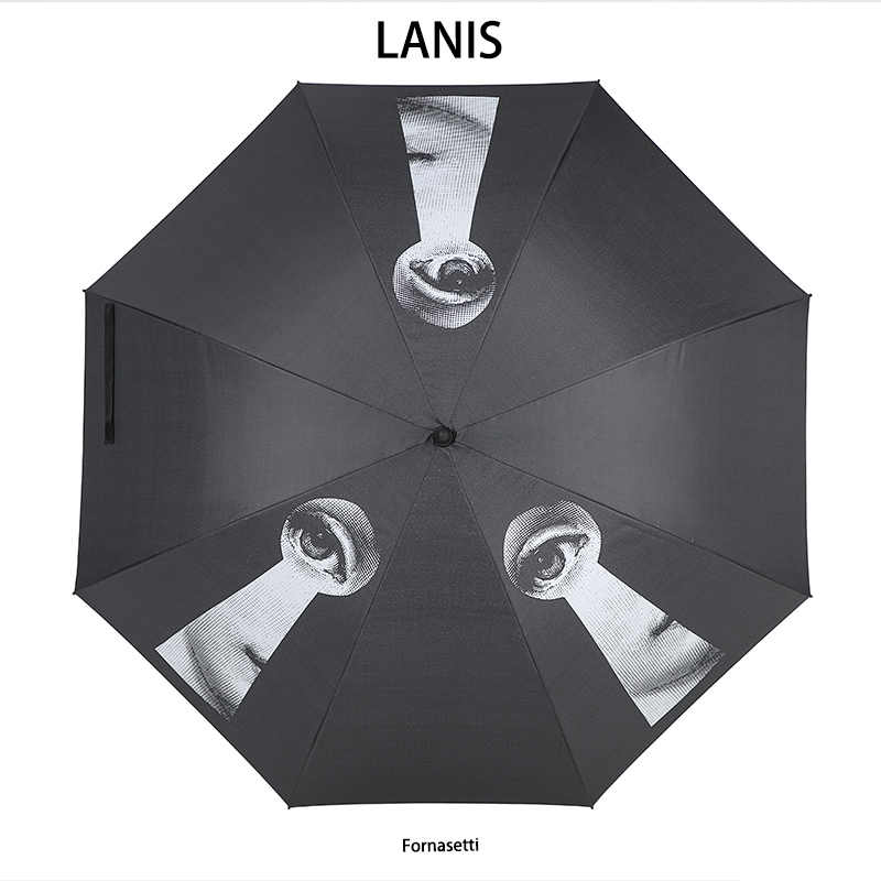 Fornazetti зонтик с длинной ручкой мужской подарок прозрачный зонт для гольфа Зонт от дождя Женский Бетти Буп декоративный зонтик