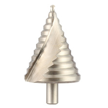 HSS Spiral Flute Stepped Drill Pagoda step drill 6-60mm Effective Spiral Groove Essential Hole Cutter Tool brocas para madera