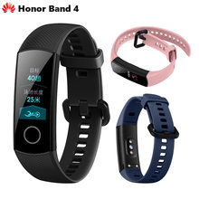 Original Huawei Honor Band 4 Standard Version Smart Wristband Color Screen Touch Pad Heart Rate Sleep Snap Monitor(China)