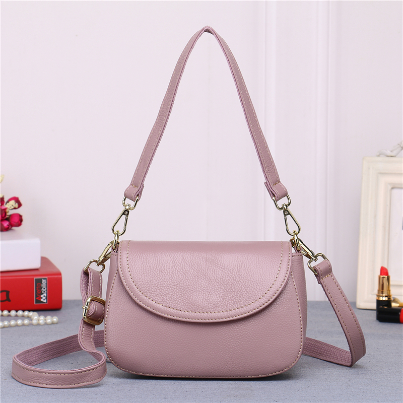 vintage leather handbags hot sale women clutches ladies shoulder messenger bags Genuine Leather