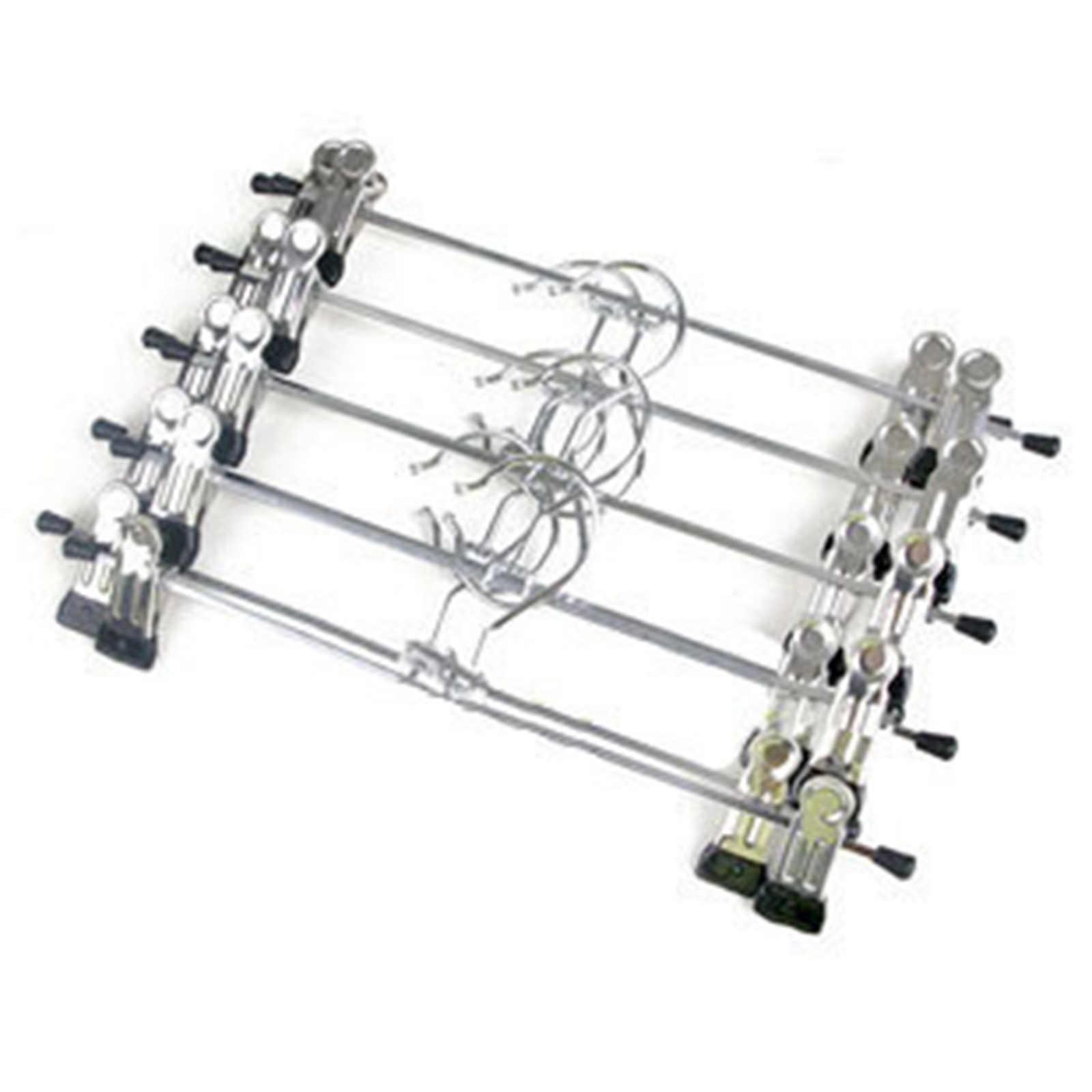 1 stks/partij Nieuwe Hangers Voor Kleding Roestvrijstalen Clip Stand Hanger Broek Rok Kid Kleding Verstelbare Pinch Grip Cabide