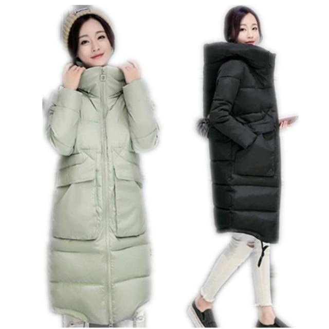 2017 New Plus Size Inverno Wadded Mulheres Jaqueta Grossa Com Capuz Quente Parka Casaco Longo Para Baixo acolchoado-Algodão Fino Inverno casaco CM256