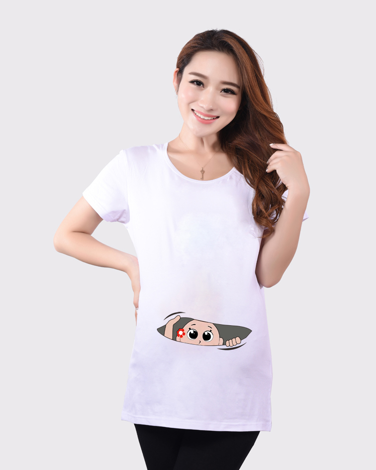 9ec4bee1a6697 2015 New Arrival Maternity Shirt With A Baby Peeking Out Funny T shirt, Funny  Maternity Top Pregnancy Clothing Great Gift Cheap-in Tees from Mother &  Kids ...