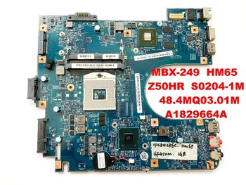 Original for SONY MBX-249 laptop motherboard HM65 Z50HR S0204-1M 48.4MQ03.01M A1829664A tested good free shipping connectors
