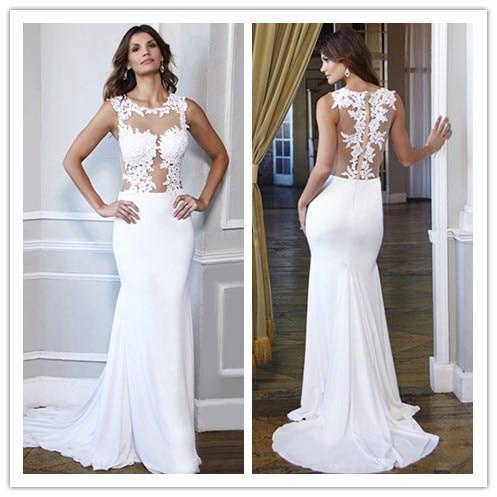 Vestidos elegantes en blanco