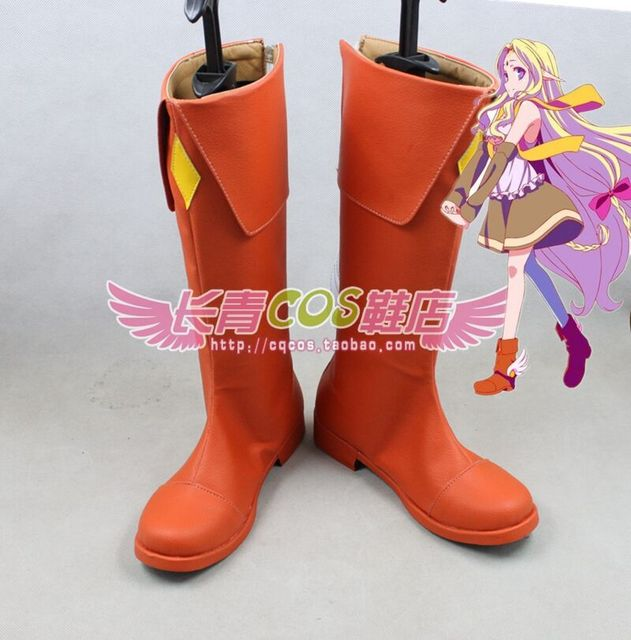 NO NO NO GAME NO LIFE Sentir Fil Nilvalen cosplay Chaussures Bottes Custom 317f98
