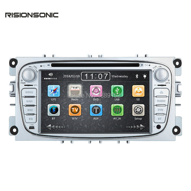 two din 7 inch car dvd player for ford focus 2 mondeo s. Black Bedroom Furniture Sets. Home Design Ideas