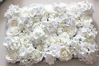 Free Shipping 10pcs Lot IVORY Artificial Silk Rose Flower Wall Wedding Background Lawn Pillar Flower Road