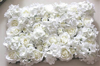 Free Shipping 10pcs Lot IVORY Artificial Silk Rose Flower Wall Wedding Background Lawn Pillar Flower Road