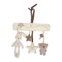 2016 Brand New Plush Toys Rabbit Bear Star Model Music Hanging Bed Safety Seat Baby Rattles