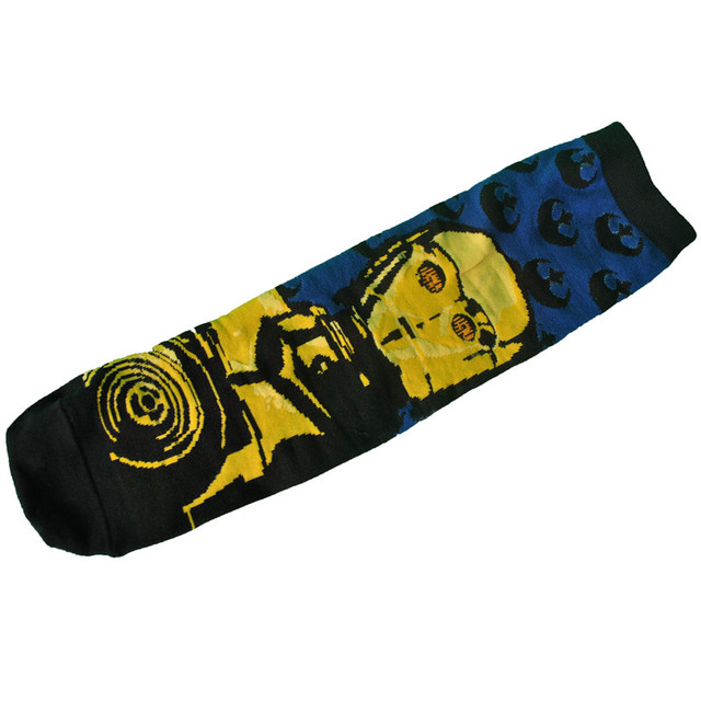 Star Wars R2D2 And C-3PO Novelty Cotton Socks (2 Styles)