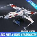 Serie Star UCS Lepin 05039 Genuino El x-wing Rebelde Rojo Cinco x-wing Starfighter Juego de Construcción bloques Ladrillos Juguetes 10240