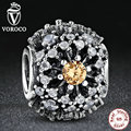 925 Sterling Silver INNER RADIANCE GOLDEN COLORED Sunburst Pattern Charm Fit Original Pandora Bracelets Jewelry S176