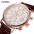 Simple Classic Business Quartz Watch Men JAPAN SINOBI Brand Leather Casual Wristwatch Chronograph Sport 2016 Relojes hombre New