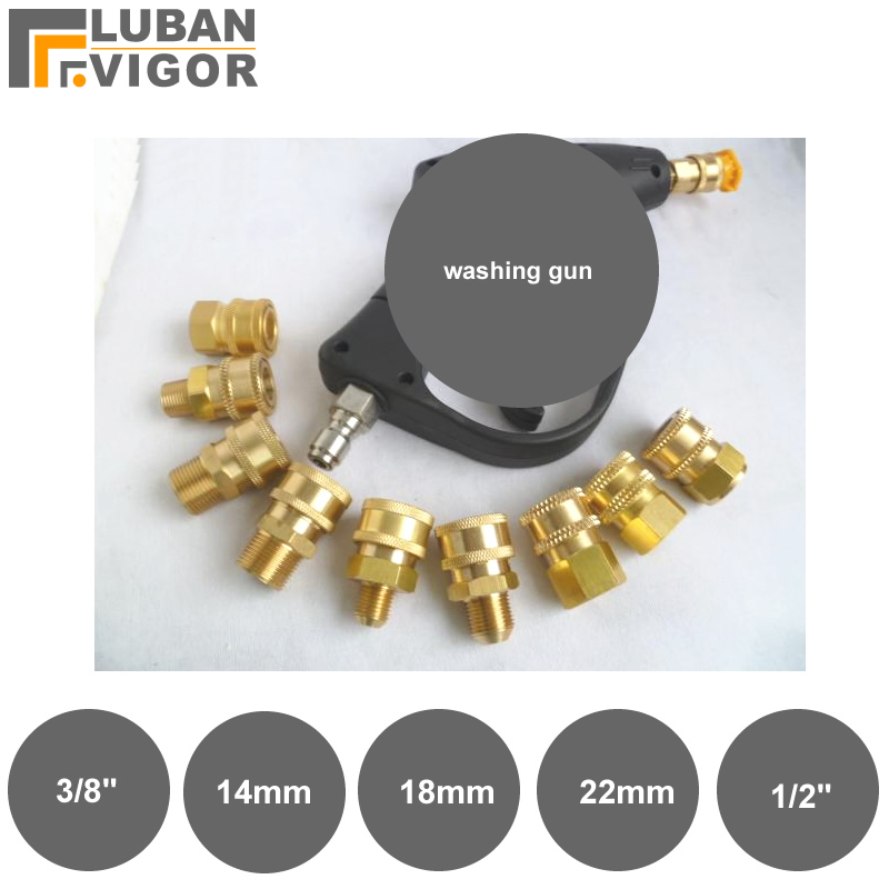 Pipe Fittings,Pressure Washing Gun Rotary Joint,Quick Connector, Female Connector,universal Joint
