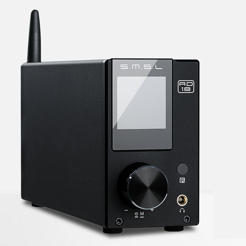 SMSL AD18 80 W * 2 RSE A64215 DSP HIFI Bluetooth Pur Numérique Audio Amplificateur Optique/Coaxial USB DAC décodeur Avec Télécommande
