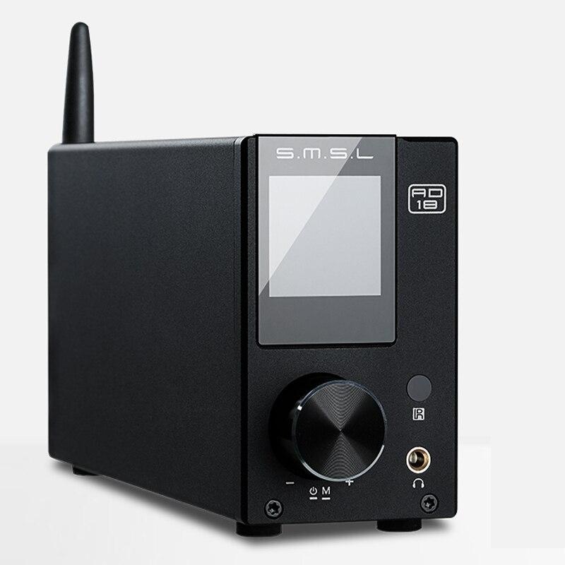 SMSL AD18 80 W * 2 DSP HIFI Bluetooth CSR A64215 טהור דיגיטלי מגבר אודיו אופטי/קואקסיאלי DAC USB מפענח עם שלט רחוק