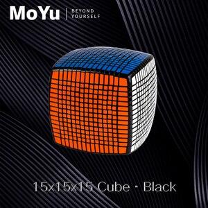 Image 3 - Moyu 15 camadas moyu 15x15x15 cubo com caixa de presente velocidade quebra cabeça mágico 15x15 cubo mágico educacional brinquedos (120mm) na promoção